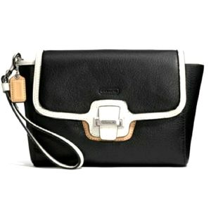 Coach Taylor Spectator Large Leather flap Clutch
